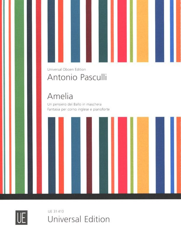 Antonino Pasculli - Amelia - Cuerno inglés y piano - Partition - di-arezzo.es