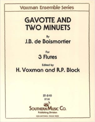 Gavotte et 2 Menuets - BOISMORTIER - Partition - laflutedepan.com