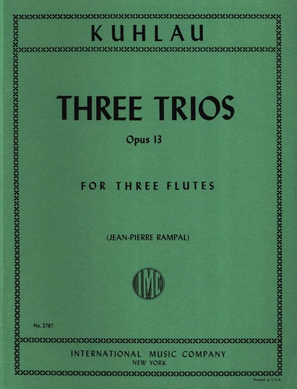3 Trios Op. 13 - Friedrich Kuhlau - Partition - laflutedepan.com