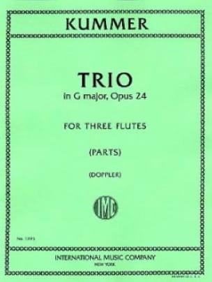 Trio op. 24 - 3 Flûtes - Gaspard Kummer - Partition - laflutedepan.com