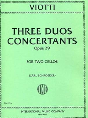 3 Duos concertants op. 29 - VIOTTI - Partition - laflutedepan.com