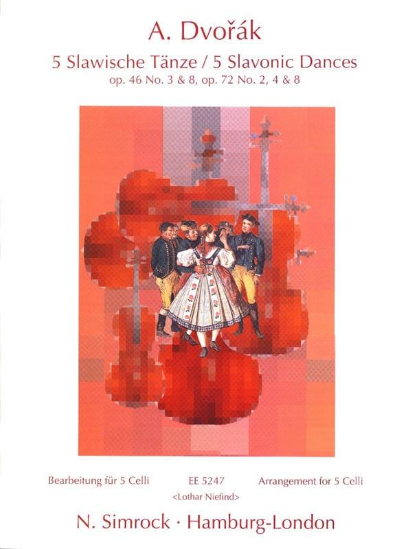 5 Slavonic Dances - 5 Celli - DVORAK - Partition - laflutedepan.com