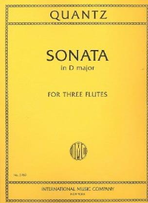Sonata in D minor - 3 Flutes - QUANTZ - Partition - laflutedepan.com