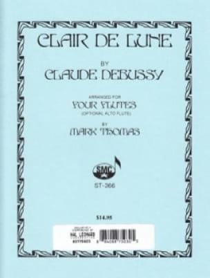 DEBUSSY - Clair de Lune - 4 Flutes - Partition - di-arezzo.co.uk