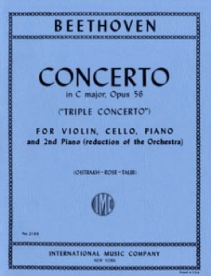 BEETHOVEN - Triple Concierto C mayor op. 56 - Piano Vln Vc Piano - Partition - di-arezzo.es