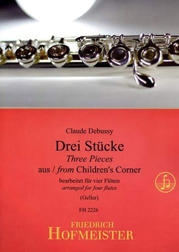 DEBUSSY - 3 Stücke aus Children's Corner - 4 Flöten - Partition - di-arezzo.co.uk