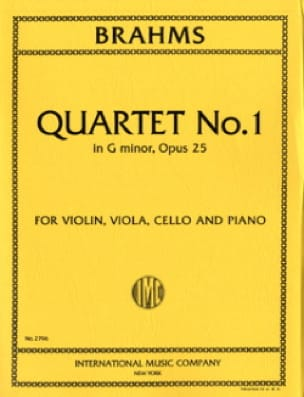 BRAHMS - Quartet n ° 1 G minor op. 25 - Parts - Partition - di-arezzo.com