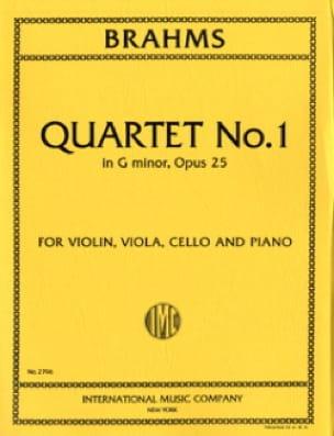 BRAHMS - Quartet n ° 1 G minor op. 25 - Parts - Partition - di-arezzo.co.uk