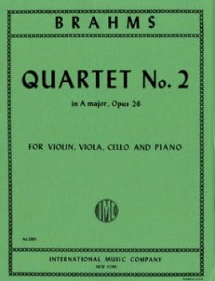 BRAHMS - Cuarteto n ° 2 A mayor op. 26 - Piezas - Partition - di-arezzo.es