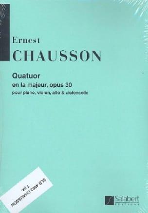 Quatuor la majeur op. 30 -Parties - CHAUSSON - laflutedepan.com