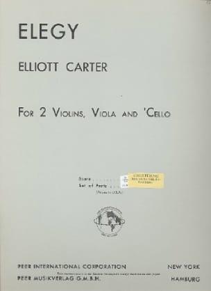 Elegy - String quartet - Parts - Elliott Carter - laflutedepan.com