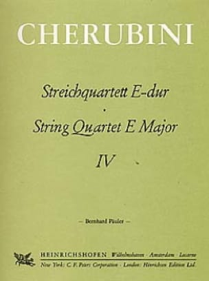 Streichquartett Nr. 4 E-Dur -Stimmen - CHERUBINI - laflutedepan.com