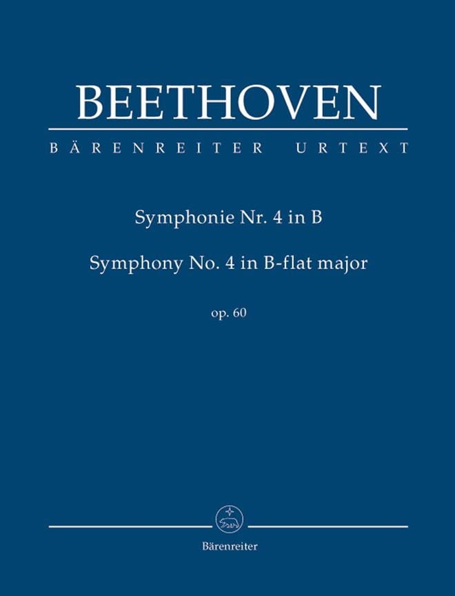 BEETHOVEN - Symphony No. 4 In Bb Shift. op.60 - Partition - di-arezzo.co.uk