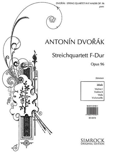 DVORAK - Streichquartet in F-Dur op. 96 - Stimmen - Partition - di-arezzo.co.uk
