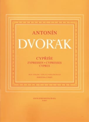 DVORAK - Cypresses - Instrumental parts - Partition - di-arezzo.co.uk