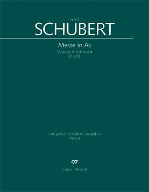 Messe in As-Dur D. 678 - Partitur - SCHUBERT - laflutedepan.com