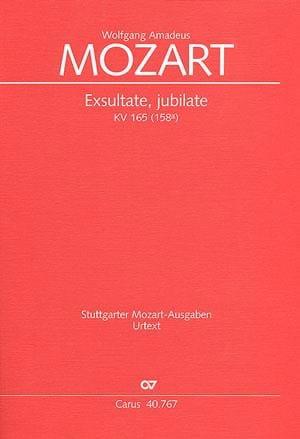 Exsultate, jubilate KV 165 - Partitur - MOZART - laflutedepan.com