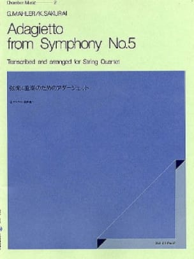 Adagietto from Symphonie n° 5 -String quartet - Score + Parts - laflutedepan.com
