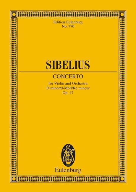 Jean Sibelius - Violin-Konzert d-moll op. 47 - Partitur - Partition - di-arezzo.co.uk