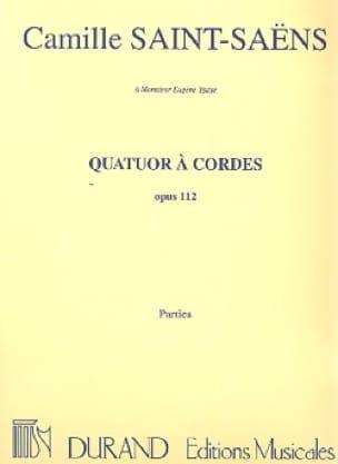 Quatuor à cordes op. 112 - Parties - SAINT-SAËNS - laflutedepan.com