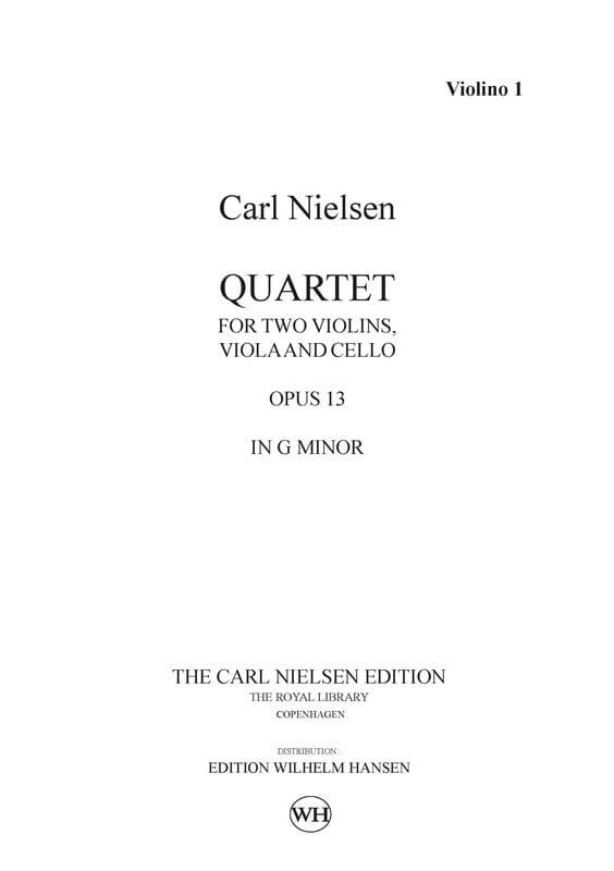 String quartet op. 13 -Parts - NIELSEN - Partition - laflutedepan.com