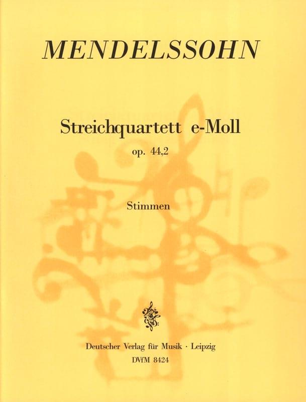 MENDELSSOHN - Streichquartett e-moll op. 44 n ° 2 - Stimmen - Partition - di-arezzo.co.uk
