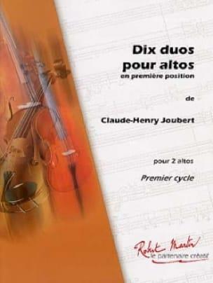 Claude-Henry Joubert - 10 Duos pour altos - Partition - di-arezzo.fr