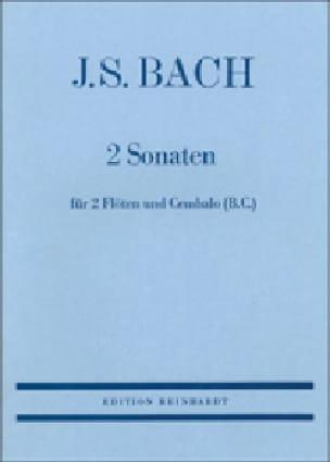 BACH - 2 Sonaten - 2 Flöten Cembalo Bc - Partition - di-arezzo.com