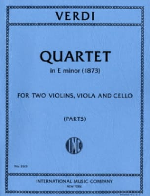 Quartet in E minor - Parts - VERDI - Partition - laflutedepan.com