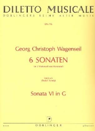 6 Sonaten - Nr. 6 G-Dur -Partitur + Stimmen - laflutedepan.com