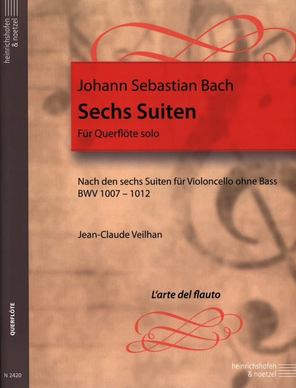BACH - 6 Transcribed Suites For Flute Alone Bwv 1007-1012 - Partition - di-arezzo.co.uk