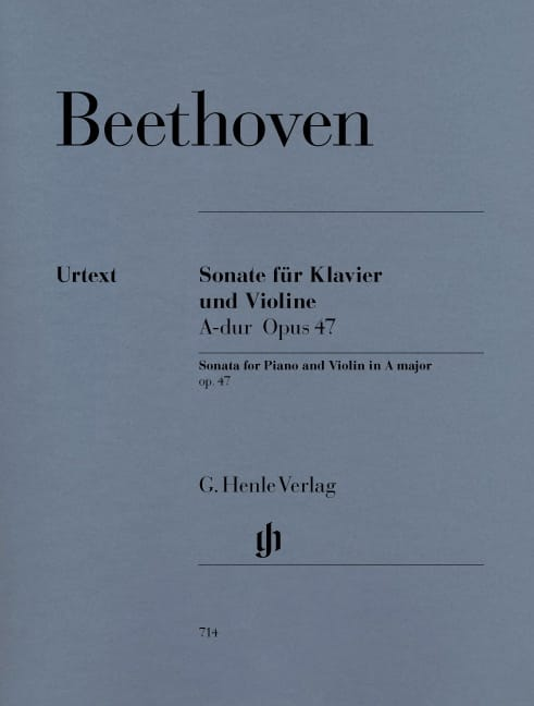 BEETHOVEN - Sonata Op. 47 in Kreutzer - Partition - di-arezzo.co.uk