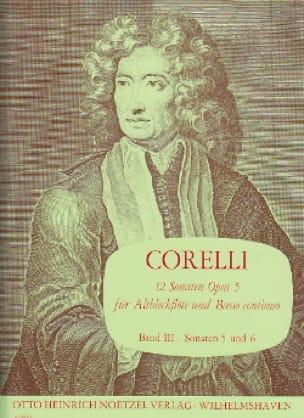 CORELLI - 12 Sonaten op. 5 - Bd. 3 - Altblockflöte u. Bc - Partition - di-arezzo.com