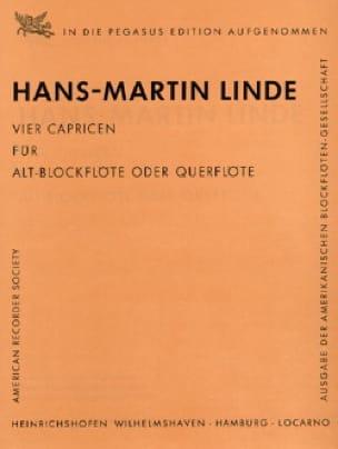 Hans-Martin Linde - 4 Capricen f. Alt-Blockflöte o. Querflöte - Partition - di-arezzo.com