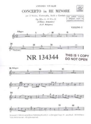 Concerto en ré min. - F. 4 n° 11 -Matériel - laflutedepan.com