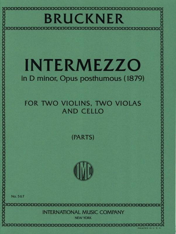 Anton Bruckner - Intermezzo op. posth. - Parts - Partition - di-arezzo.co.uk