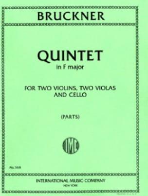 Quintet in F major -Parts - BRUCKNER - Partition - laflutedepan.com