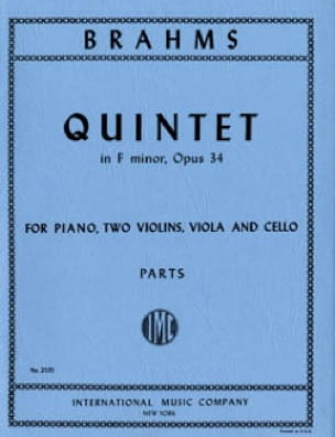 BRAHMS - Quintet in F minor op. 34 - Parts - Partition - di-arezzo.com