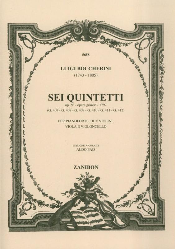 Sei Quintetti op. 56 G. 407-412 -Parties de cordes - laflutedepan.com