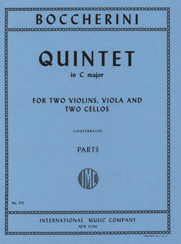 Quintet in C major - Parts - BOCCHERINI - Partition - laflutedepan.com