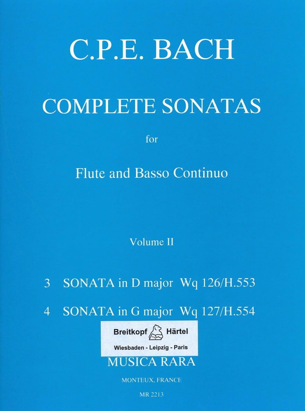 Complete sonatas Volume 2 -Flute Bc - laflutedepan.com