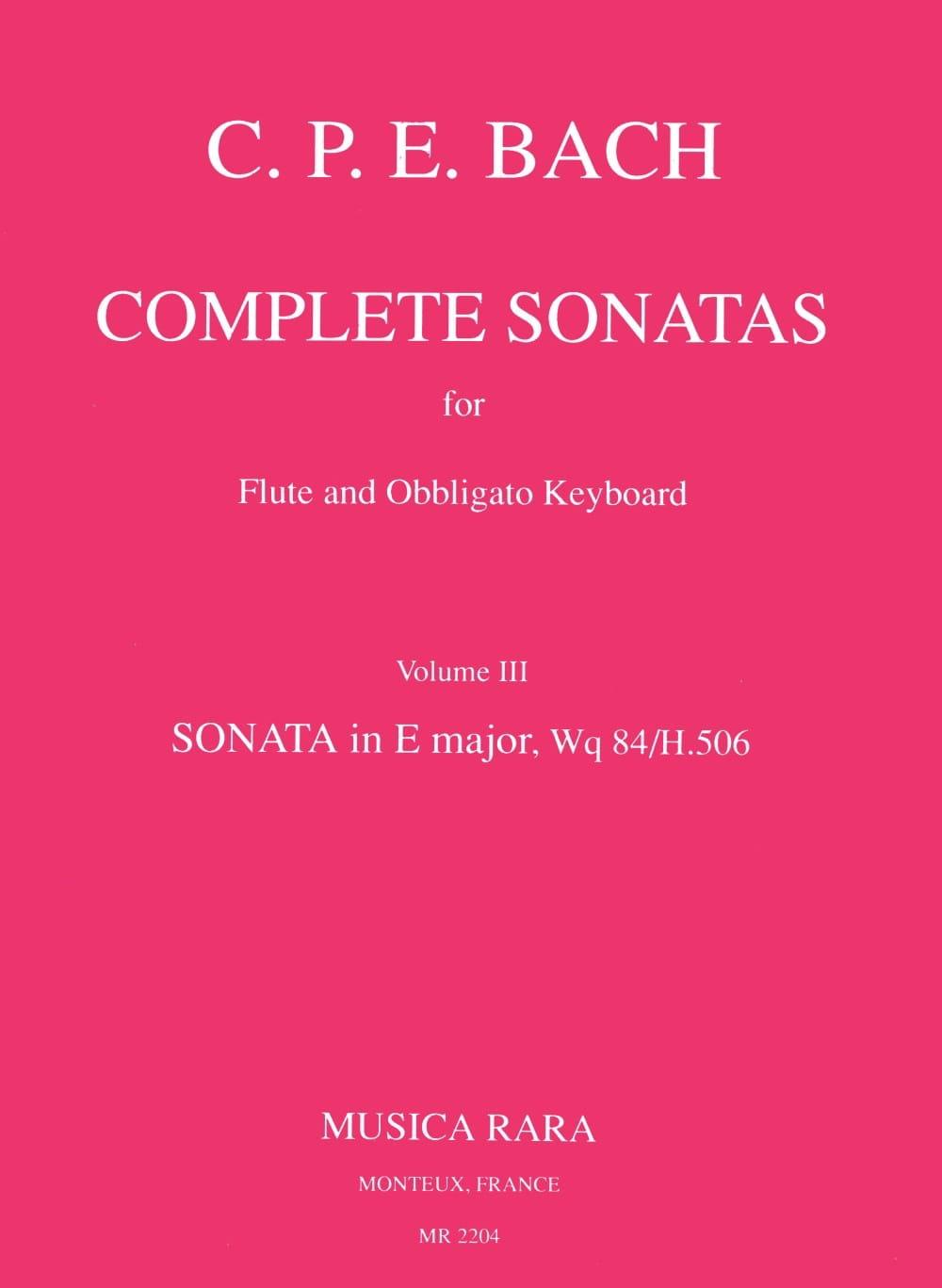 Complete sonatas - Volume 3 - Flute obblig. keyboard - laflutedepan.com