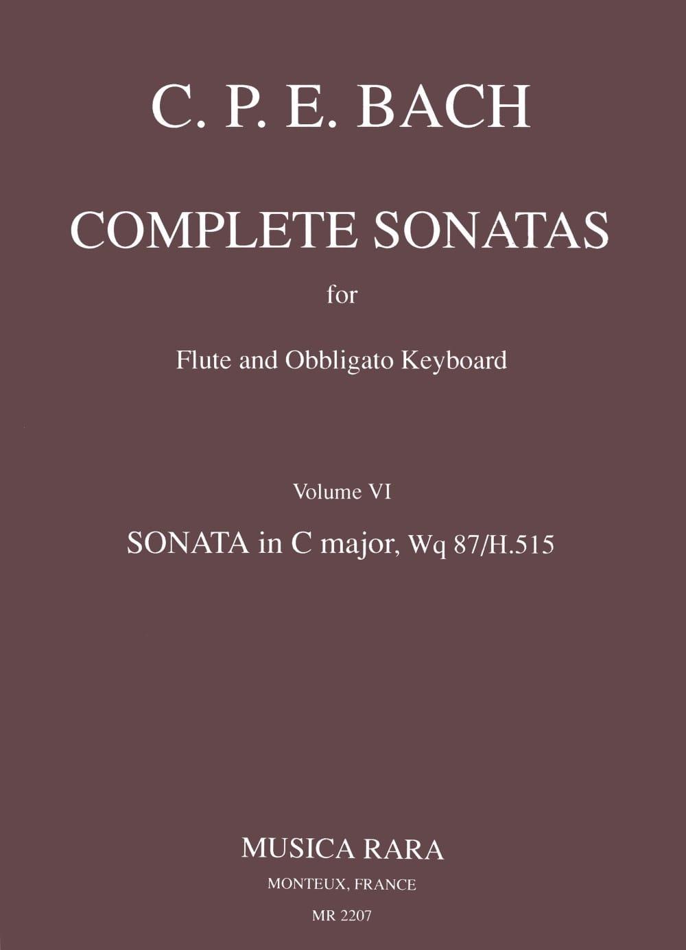 Complete sonatas - Volume 6 - Flute Clavecin (Epuisé) - laflutedepan.com