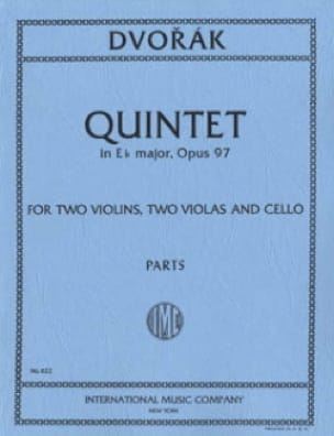 Quintet in E flat major op. 97 - Parts - DVORAK - laflutedepan.com