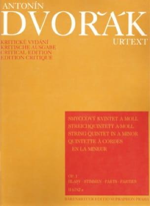 DVORAK - Streichquintet a-moll op. 1 - Stimmen - Partition - di-arezzo.co.uk