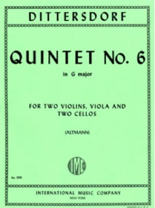 Quintet n° 6 in G major - Score + Parts - laflutedepan.com