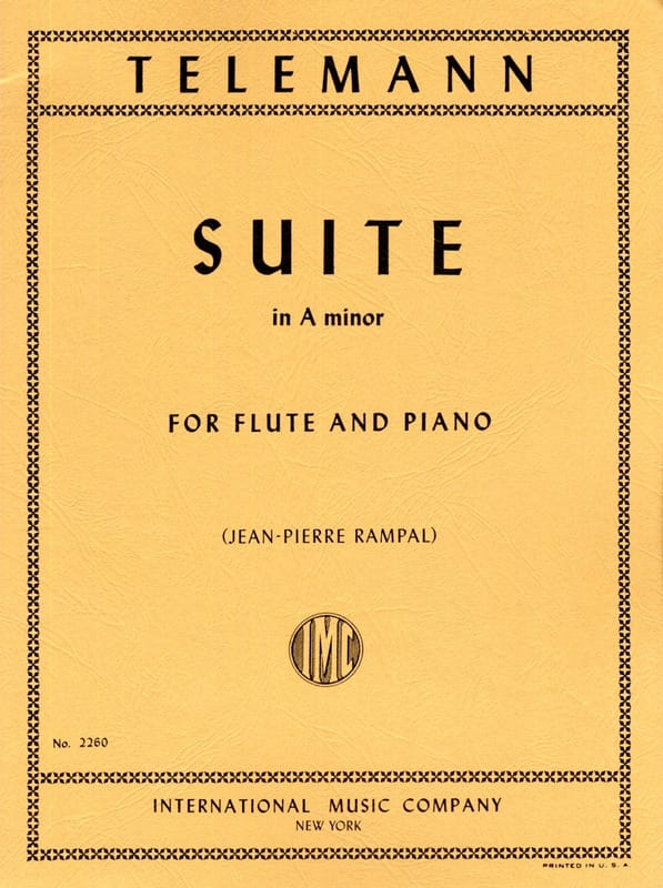 TELEMANN - Suite in A minor - Flute piano - Partition - di-arezzo.co.uk