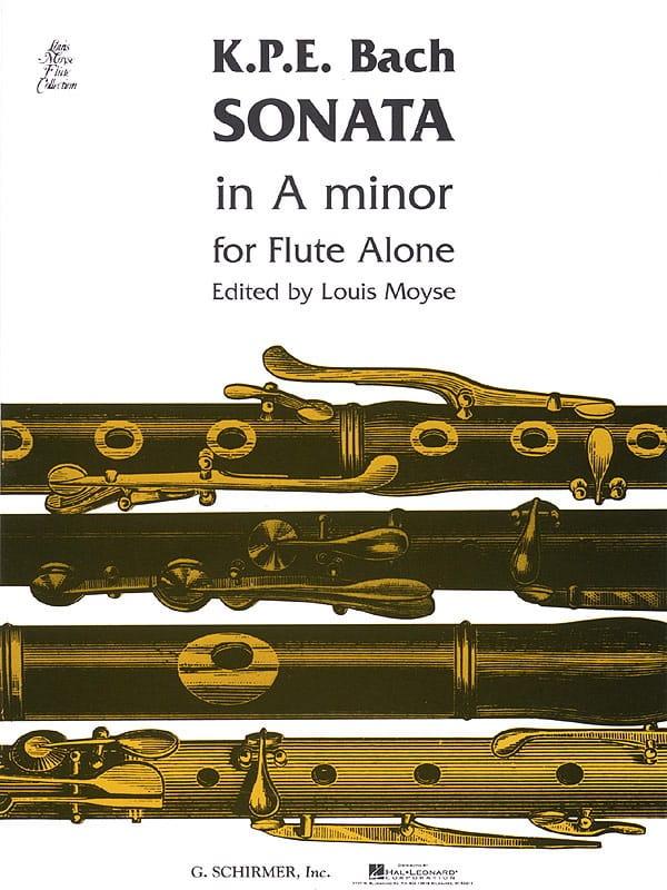 Carl Philipp Emanuel Bach - Sonata A minor - Solo flute - Partition - di-arezzo.com