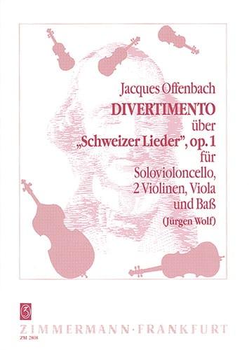 Divertimento op. 1 -Violonc. solo 2 Violinen Viola Bass -Partitur + Stimmen - laflutedepan.com
