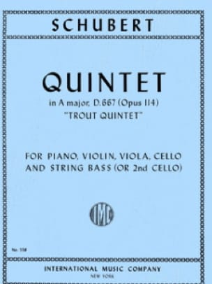 Trout Quintet in A major op. 114 - Parts - SCHUBERT - laflutedepan.com